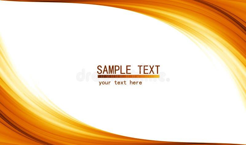 Oranje high-tech abstracte achtergrond stock illustratie