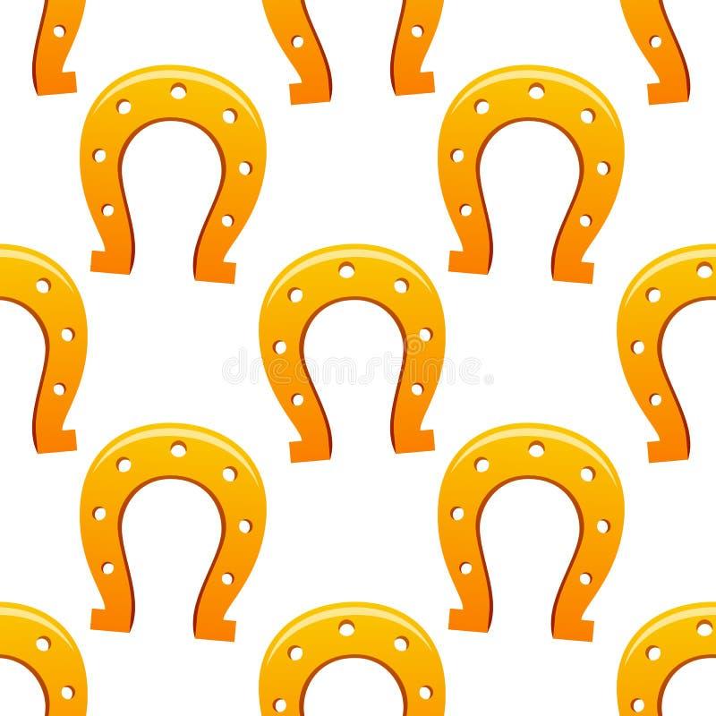 Oranje Hoeven Naadloos Patroon stock illustratie