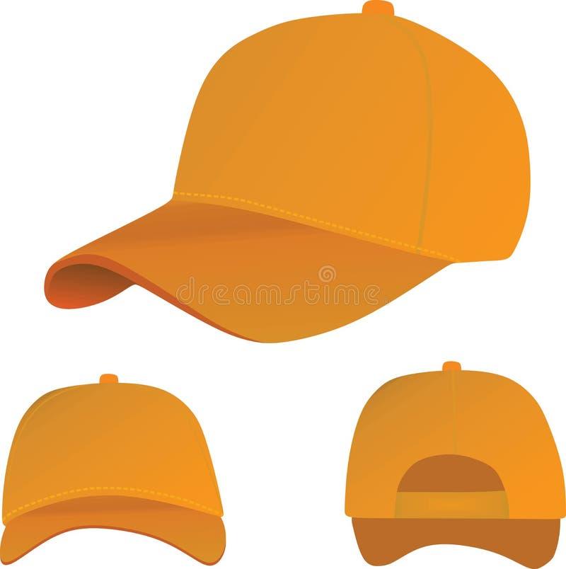 Oranje honkbal GLB royalty-vrije illustratie