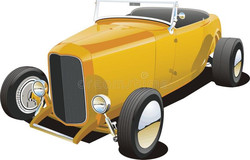 Oranje Hotrod stock illustratie