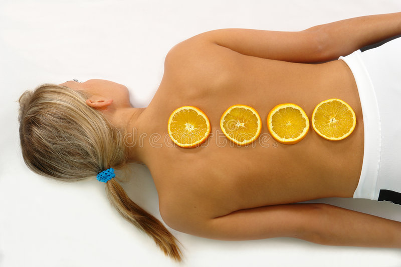 Oranje huidvitalization royalty-vrije stock afbeelding