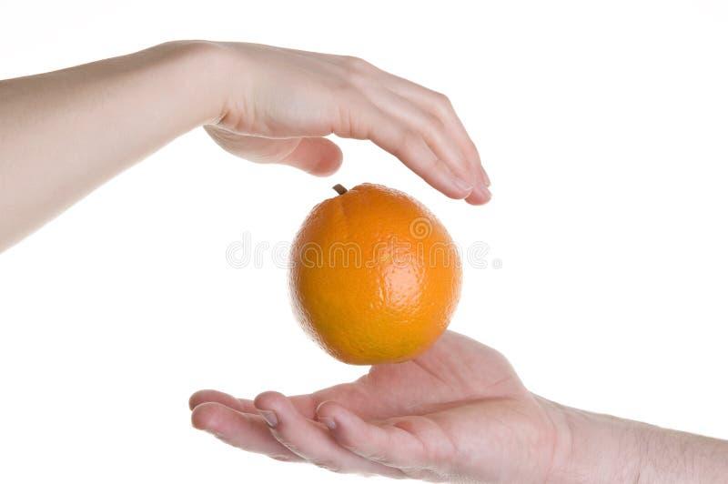 Oranje illusie stock foto's