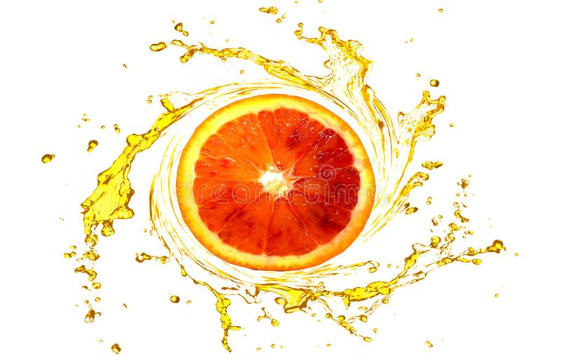 Oranje isoleer witte achtergrond stock foto