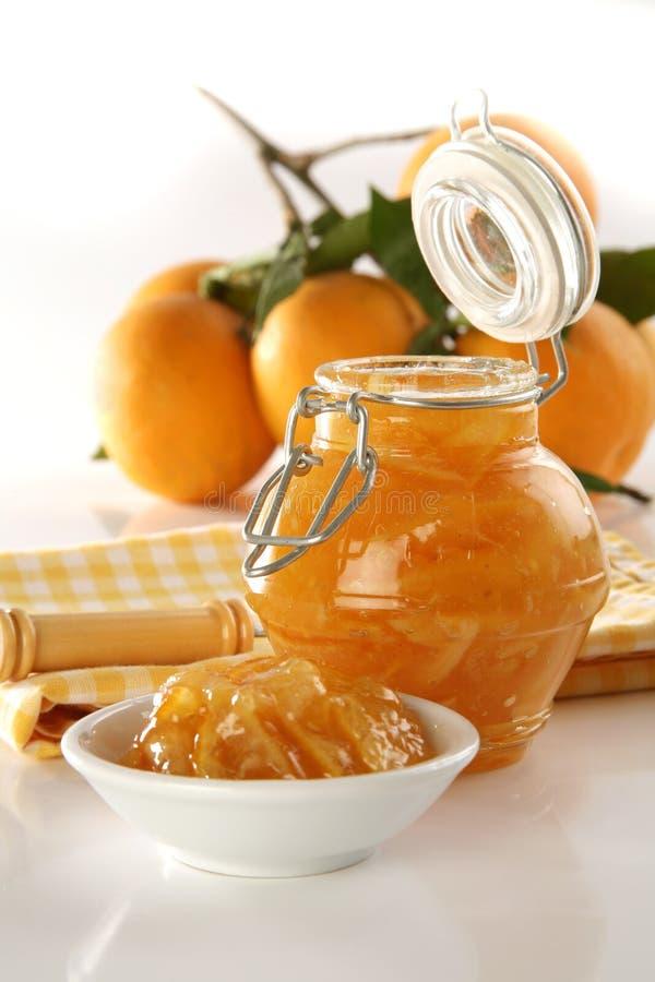 Oranje jam royalty-vrije stock foto's