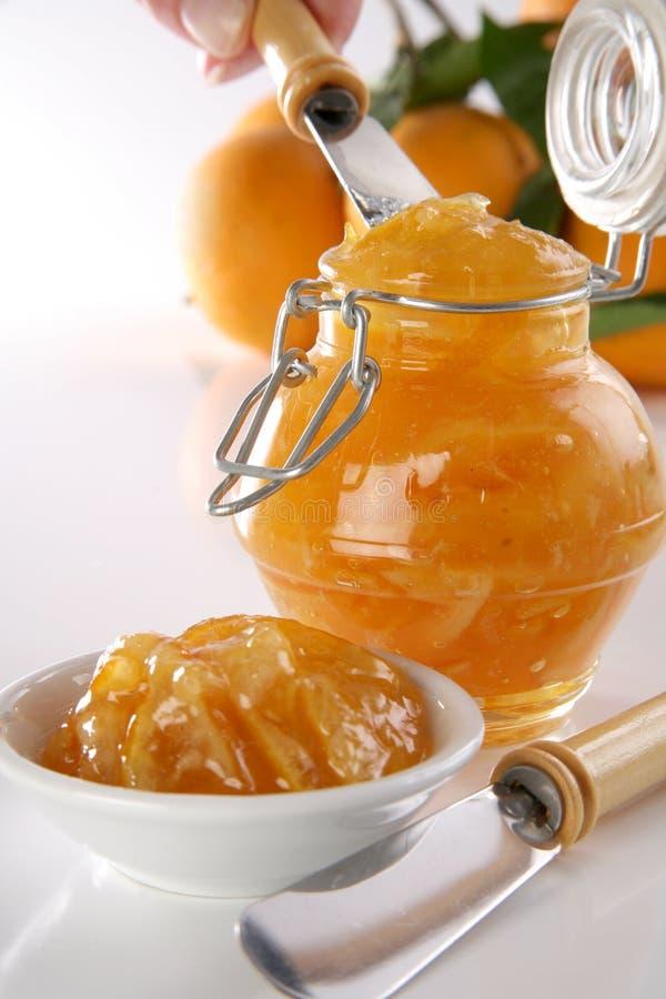 Oranje jam stock afbeelding