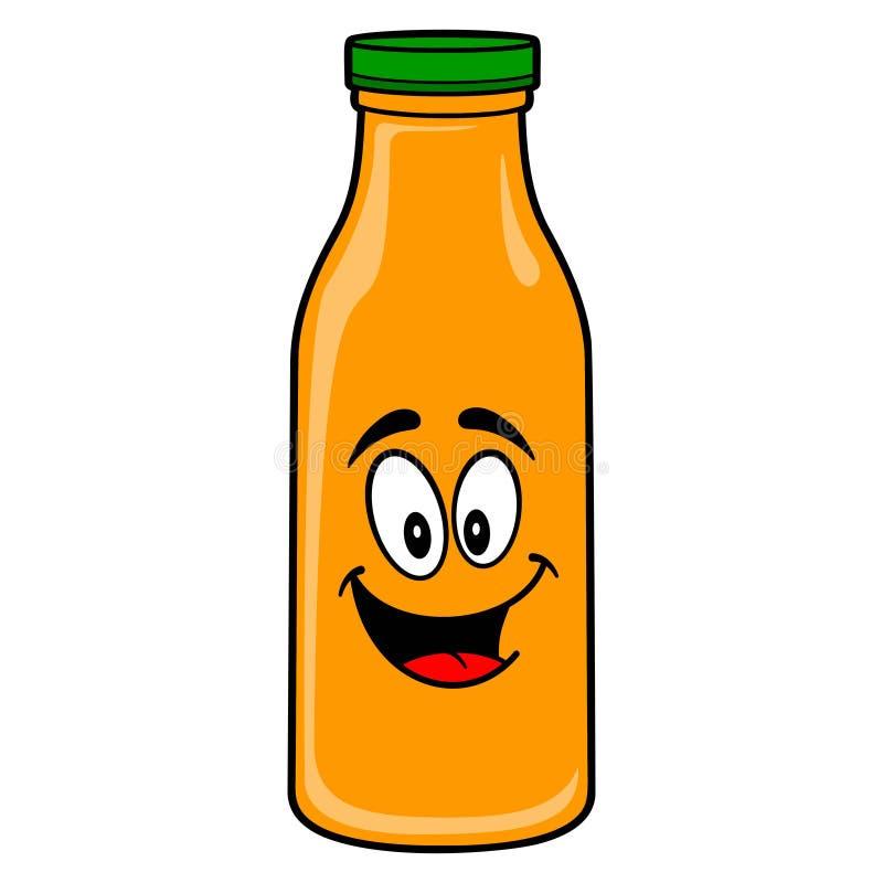 Oranje Juice Mascot vector illustratie