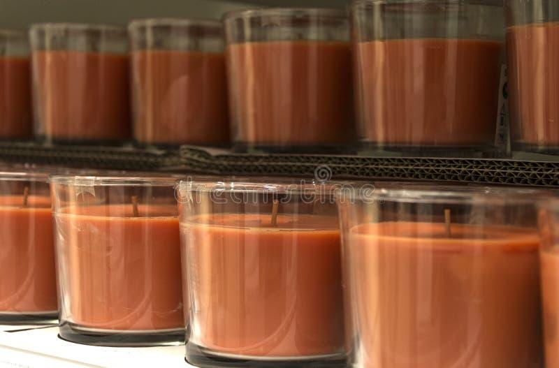 Oranje kaars royalty-vrije stock fotografie