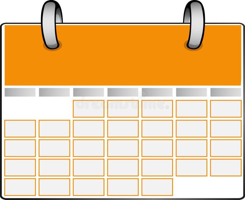 Oranje Kalender stock illustratie