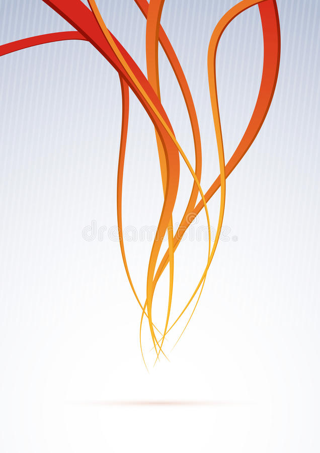 Oranje kanaal - de achtergrond van snelheidsgolven royalty-vrije illustratie