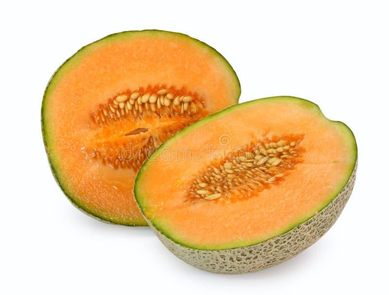 Oranje kantaloepmeloen stock foto