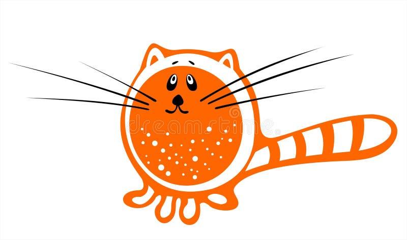 Oranje kat royalty-vrije illustratie