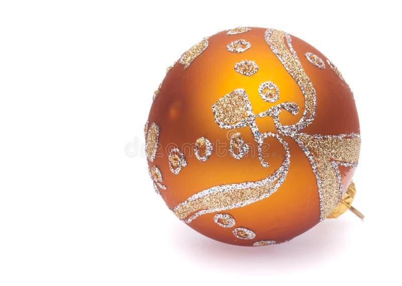 oranje Kerstmisbal royalty-vrije stock afbeelding