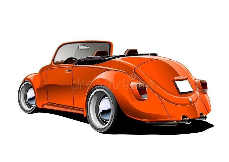 Oranje klassieke convertibel royalty-vrije illustratie