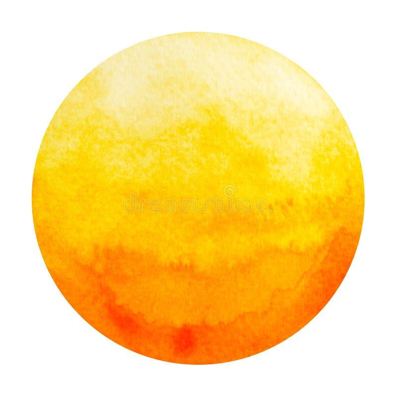 Oranje kleur van sacral concept van het chakrasymbool, waterverf het schilderen stock illustratie