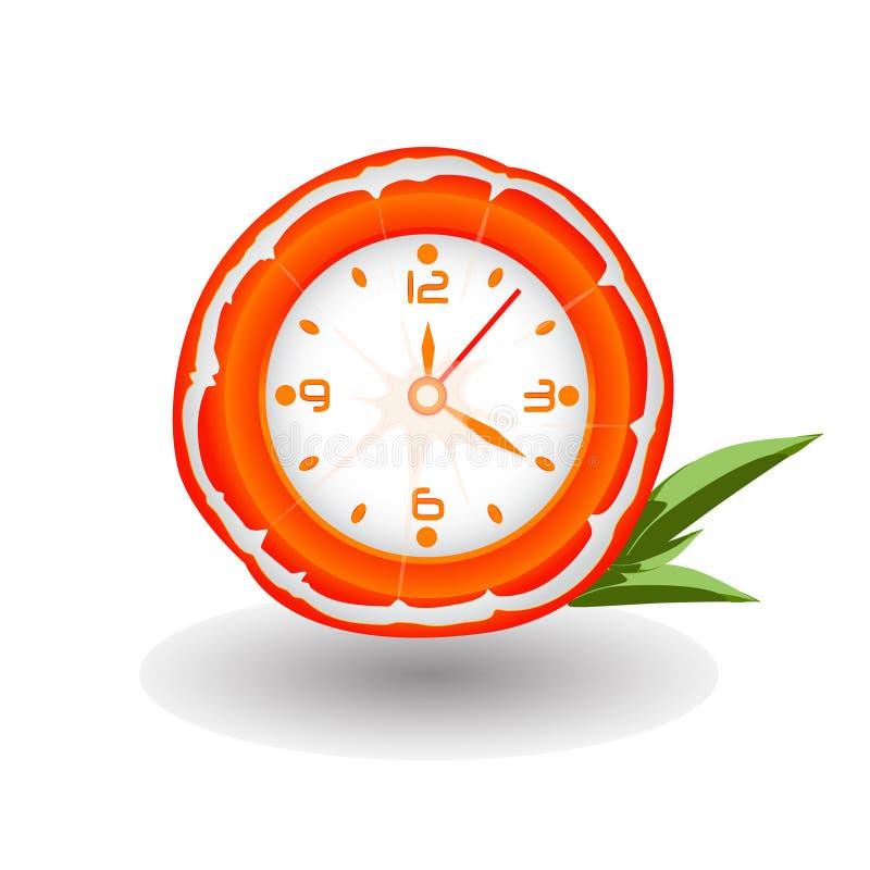 Oranje klok royalty-vrije stock afbeelding