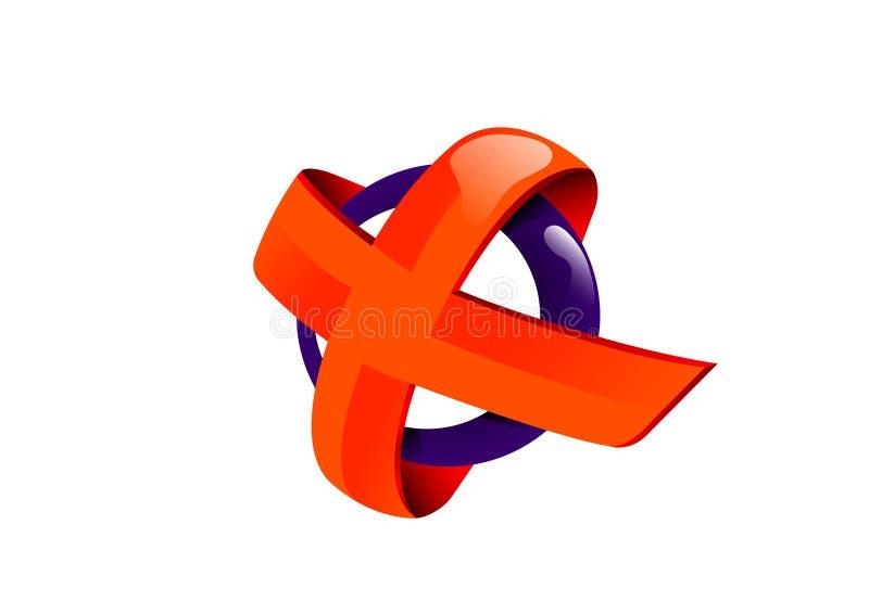 Oranje kruis royalty-vrije stock fotografie