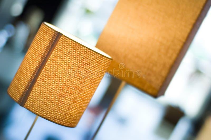Oranje lampen stock afbeelding