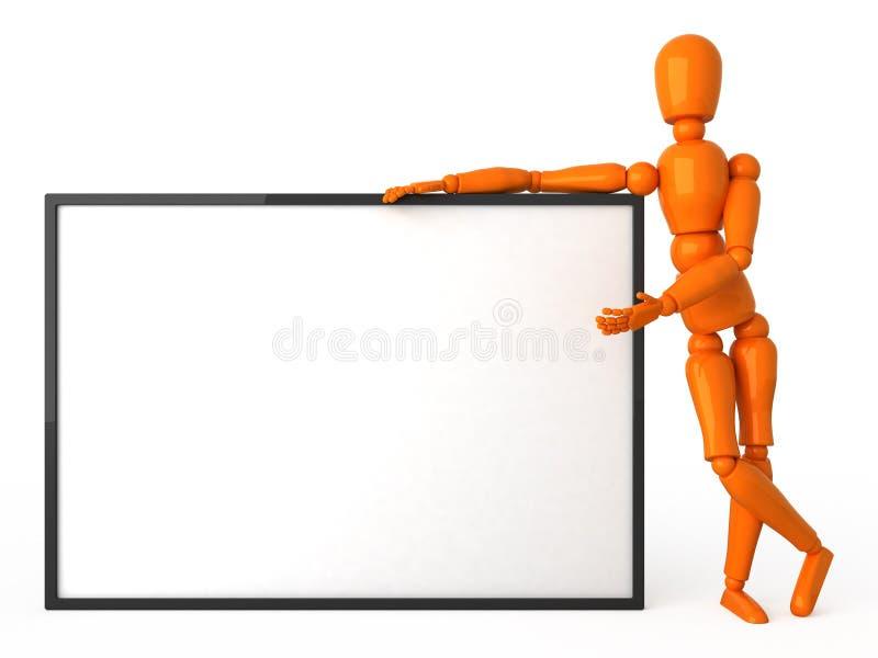 Oranje ledenpop royalty-vrije illustratie