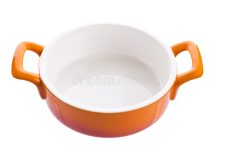 Oranje lege kom royalty-vrije stock afbeeldingen