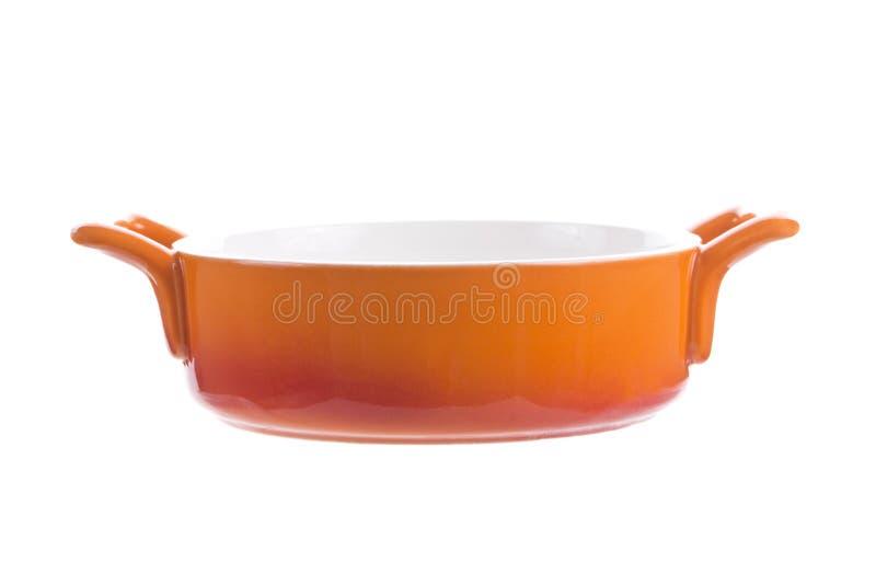 Oranje lege kom stock foto