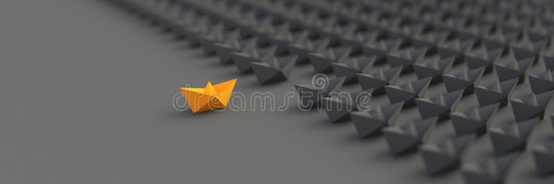 Oranje leidersboot stock illustratie