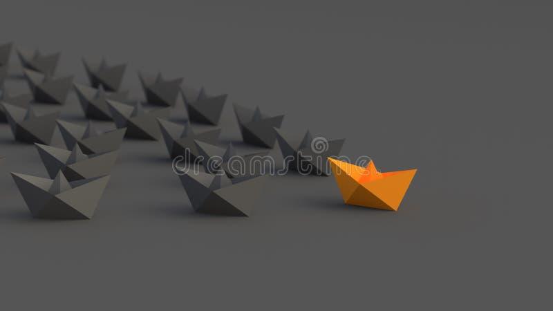 Oranje leidersboot royalty-vrije illustratie