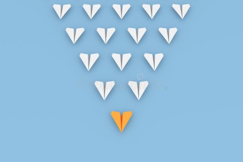 Oranje leidersvliegtuig stock illustratie