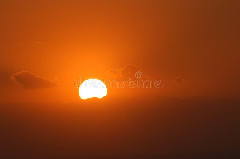 Oranje Licht Royalty-vrije Stock Afbeeldingen