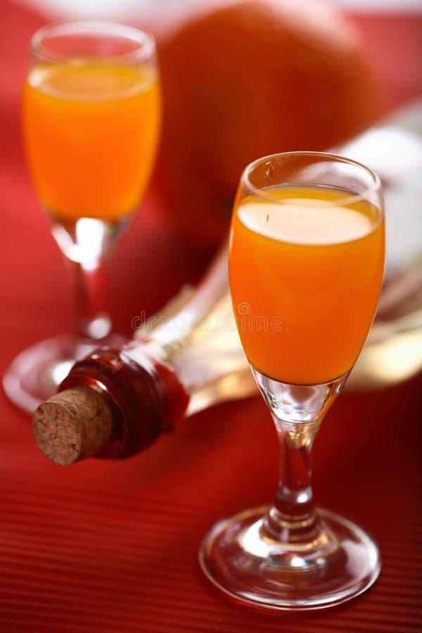 Oranje likeur stock fotografie