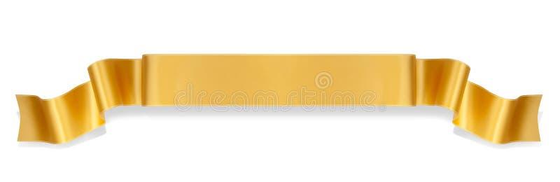 Oranje lintbanner stock foto