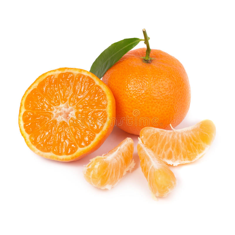 Oranje mandarin stock foto's