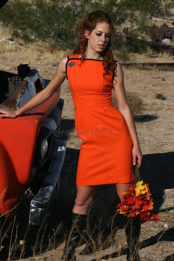 Oranje Manier royalty-vrije stock afbeelding