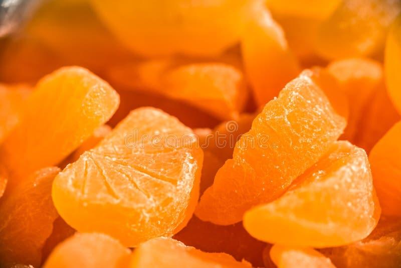 Oranje marmeladesuikergoed Het suikergoed van de citrusvruchtengelei stock foto's