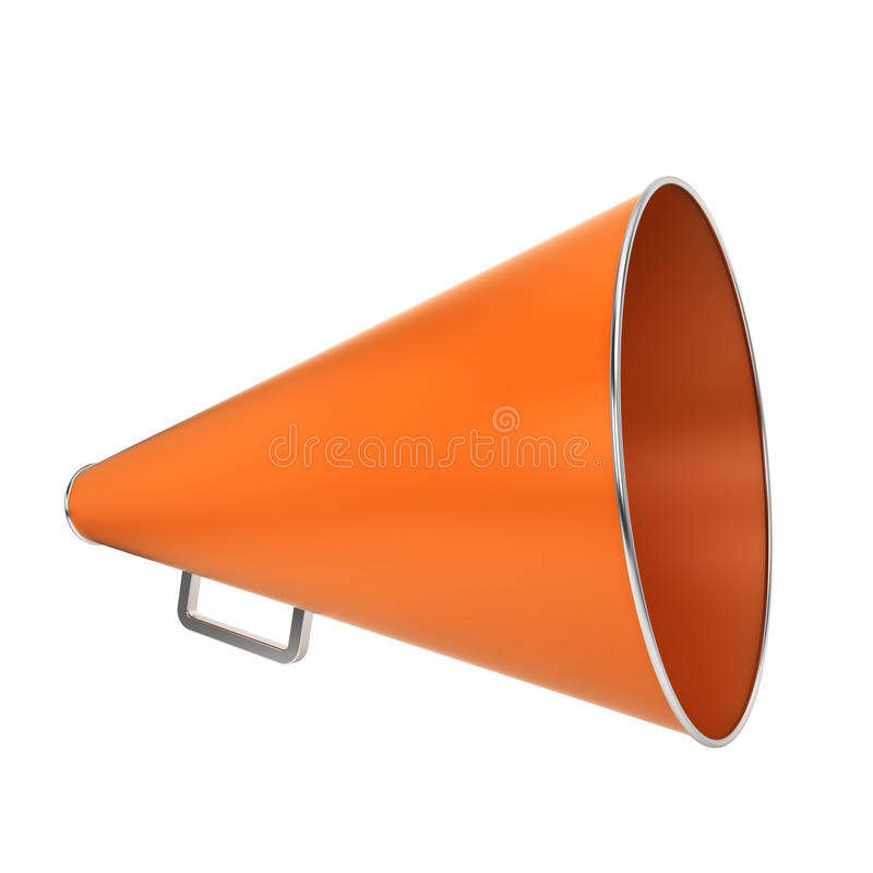 Oranje megafoon stock illustratie