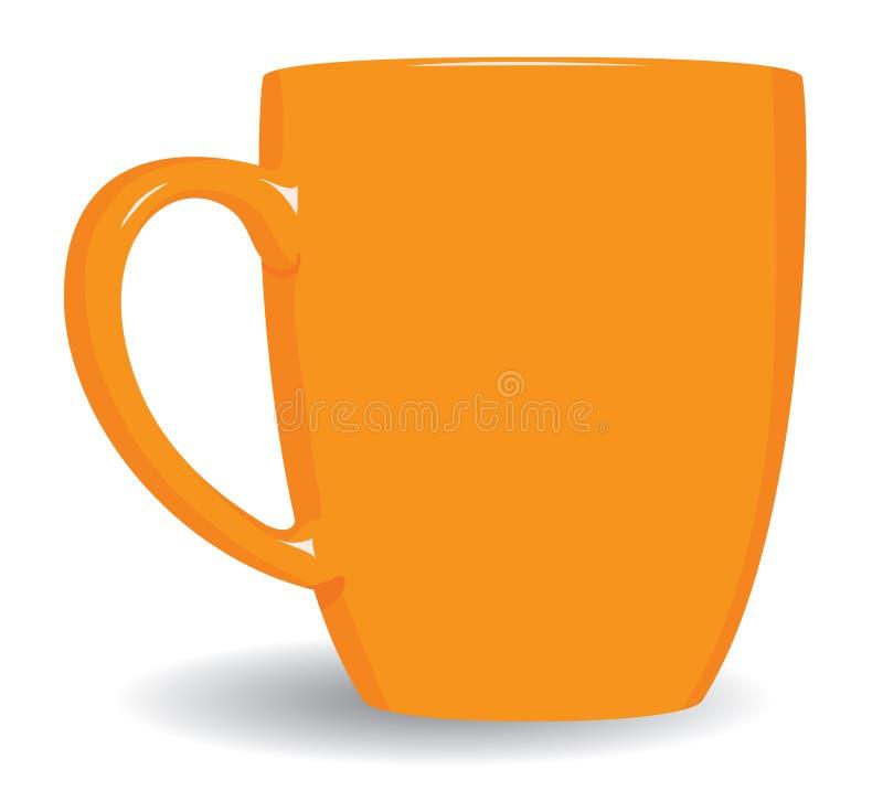 Oranje mok op wit. royalty-vrije illustratie