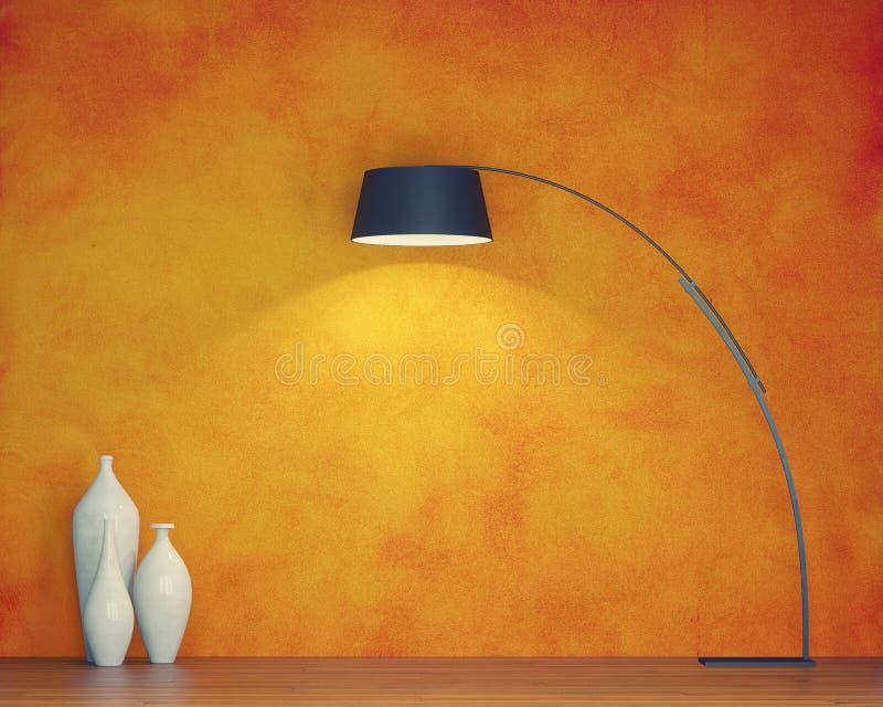 Oranje muur stock illustratie