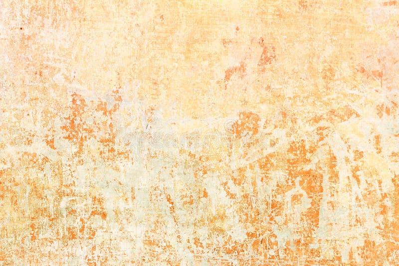 Oranje muurtextuur stock fotografie