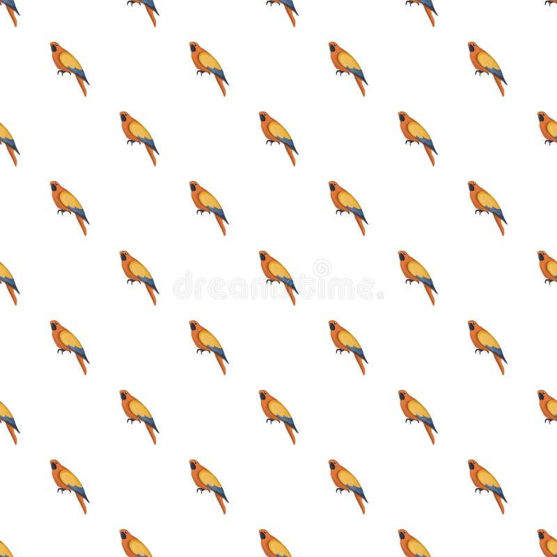 Oranje naadloos papegaaipatroon stock illustratie