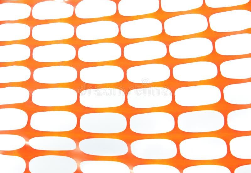 Oranje netto bouwwerf royalty-vrije stock foto's
