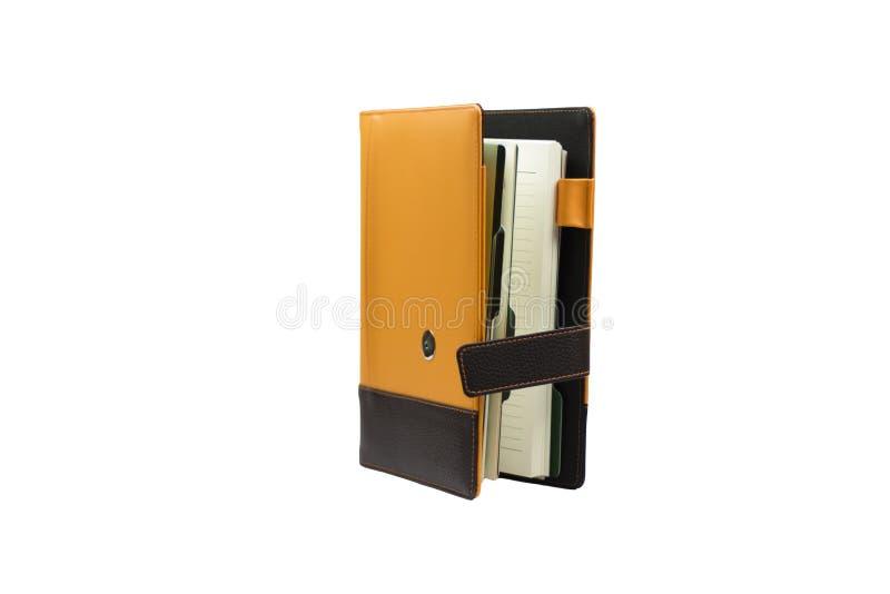 Oranje notitieboekjeagenda royalty-vrije stock foto's