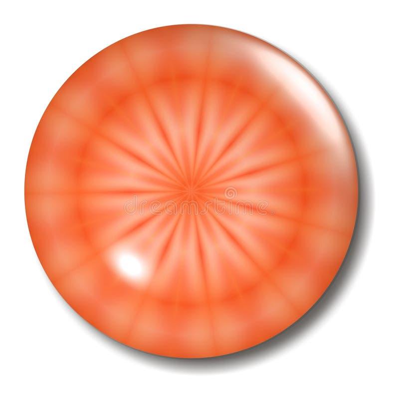 Oranje Orb van de Knoop van het Ontwerp vector illustratie