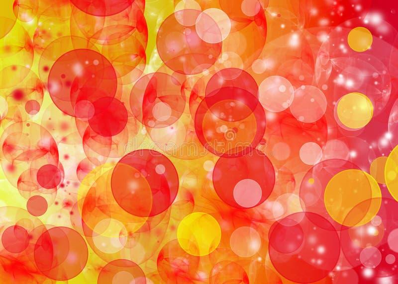 Oranje Patroon Bokeh royalty-vrije illustratie