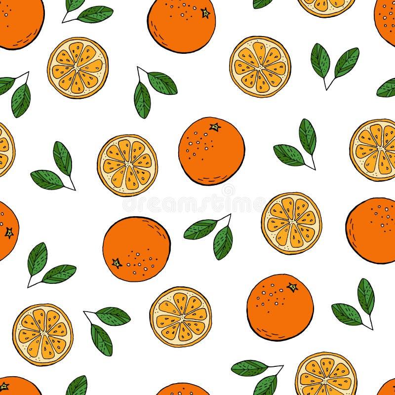 Oranje patroon royalty-vrije illustratie