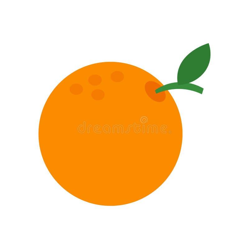 Oranje pictogram vectordieteken en symbool op witte achtergrond, Oranje embleemconcept wordt geïsoleerd stock afbeelding