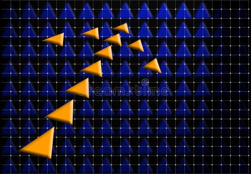 Oranje pijl stock illustratie