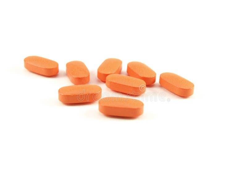Oranje pillen, voorschriftdrugs royalty-vrije stock afbeelding