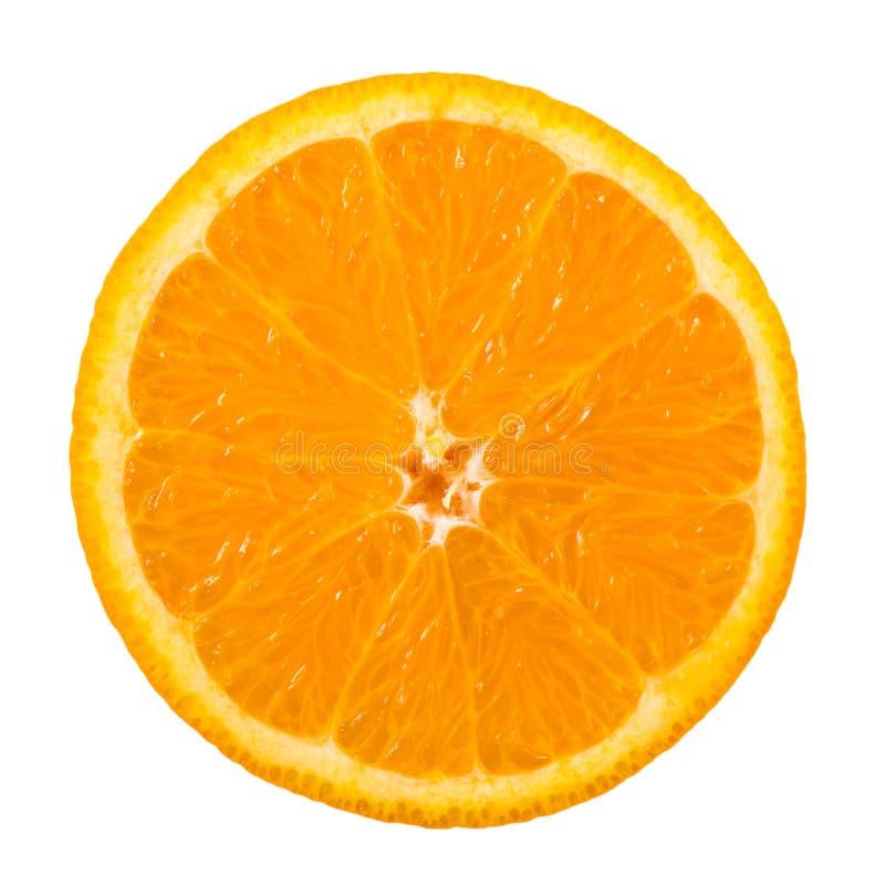 Oranje plak die op wit wordt geïsoleerdd royalty-vrije stock afbeelding