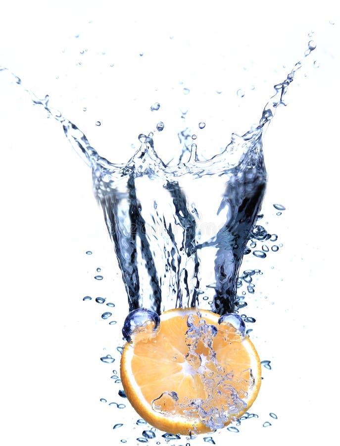 Oranje plons royalty-vrije stock foto