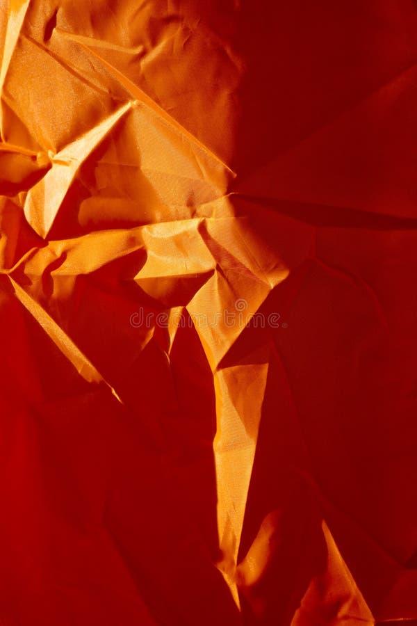 Oranje polyester macro abstracte fijne kunst als achtergrond in hoogte - de producten van kwaliteitsdrukken royalty-vrije stock foto's