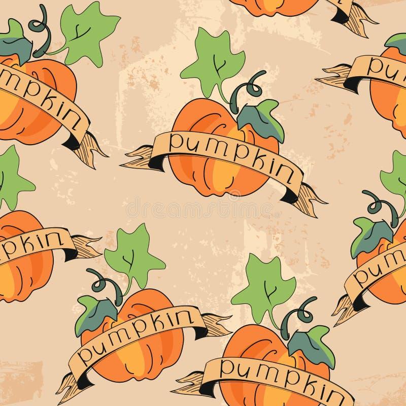 Oranje Pompoen stock illustratie